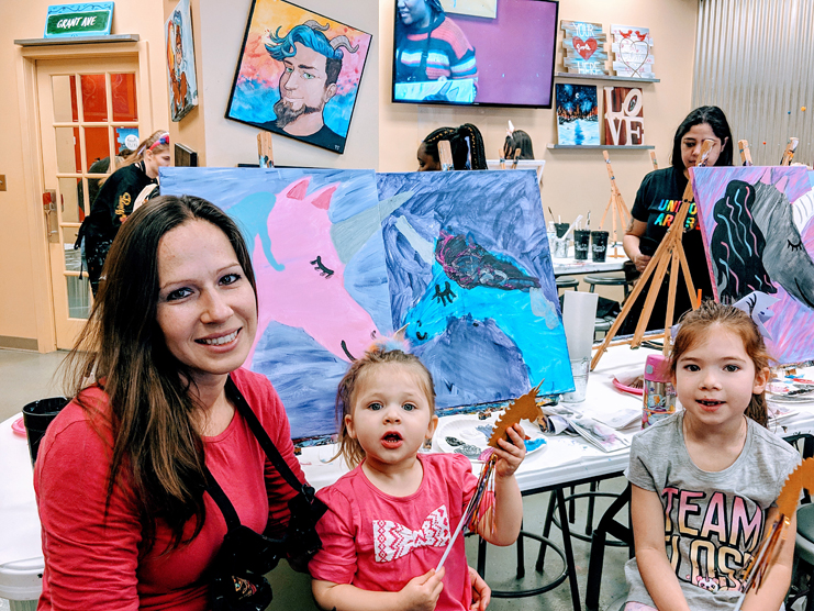 Painting with a Twist Girls Day Date