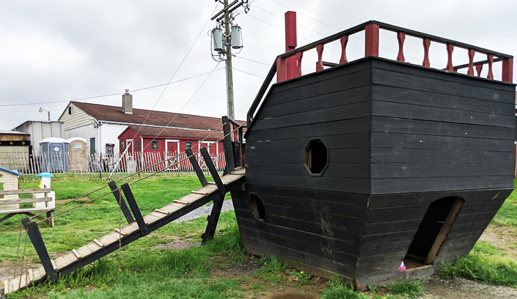 Oley Dairy Play Area Pirate Ship